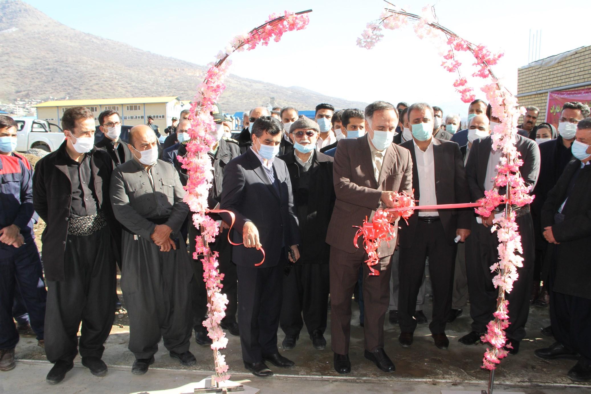 افتتاح واحدهای تولیدی شهرستان بانه به مناسبت دهه مبارک فجر
